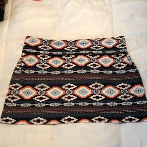 Aztec Print Skirt Rock 47